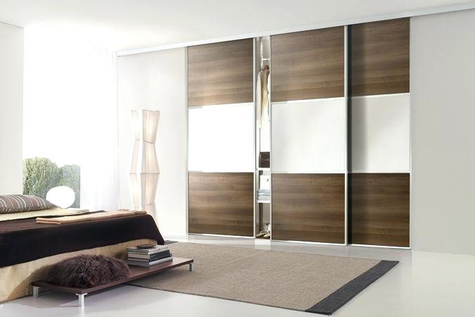 wardrobe with sliding doors silver frame with walnut panels pure white glass and silver horizontal split bars wardrobe sliding doors perth